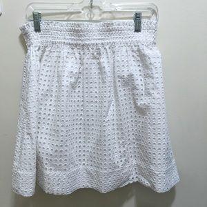Kate spade white cotton broome street skirt size m